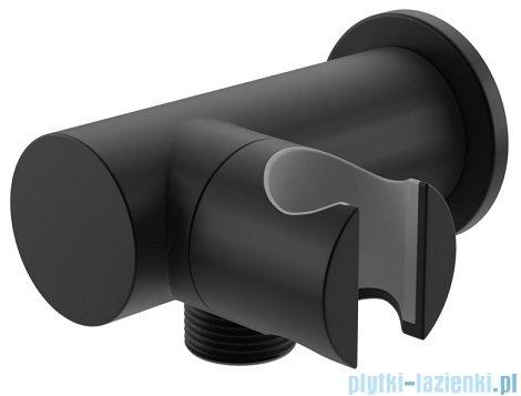 Kohlman uchwyt słuchawkowy z przyłączem wody czarny mat QW004AEB