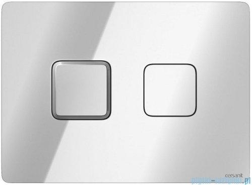 Cersanit Accento Square przycisk spłukujący pneumatyczny 2-funkcyjny chrom S97-057