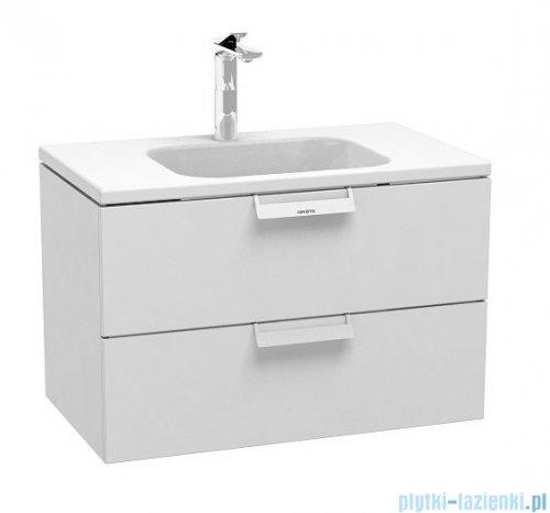Oristo Base szafka z umywalką 80x50x45cm biały połysk OR48-SD2S-80-1/UME-BA-80-91