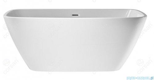 Corsan Okama wanna wolnostojąca 150x73 cm biała + syfon klik-klak E-021