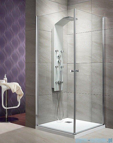 Radaway Eos KDD kabina prysznicowa 90x90 szkło przejrzyste + Brodzik Delos C + syfon