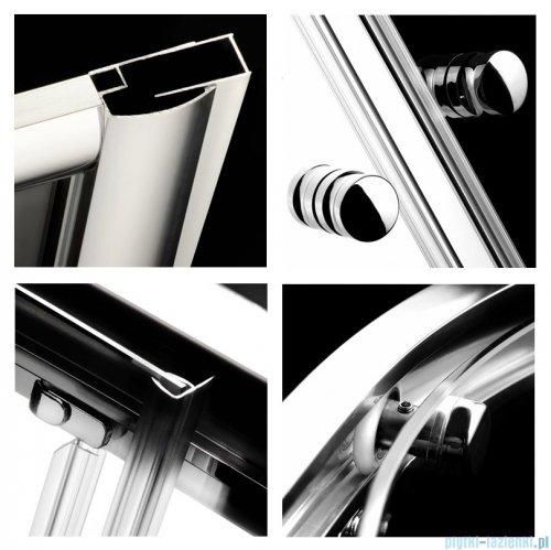 Radaway Classic A Kabina prysznicowa półokrągła z drzwiami przesuwnymi 80x80x185 szkło fabric profile białe 30010-04-06