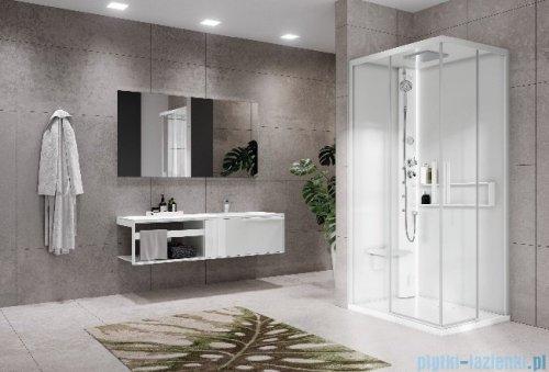 Novellini Glax 2 2.0 kabina masażowo-parowa 100x80 lewa total biała G22A108SM5-1UU