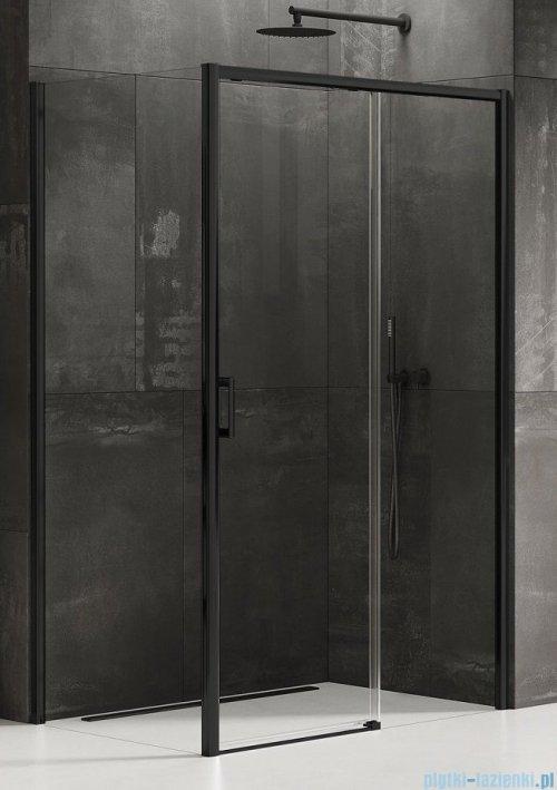New Trendy Prime Black kabina prostokątna 110x80x200 cm prawa przejrzyste D-0319A/D-0128B
