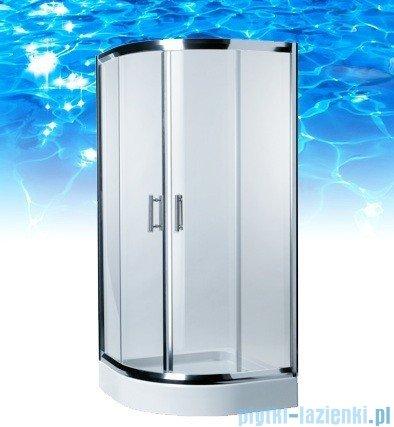 Omnires Health kabina 2-skrzydłowa 90x90x185cm szkło przejrzyste JK2809LC2