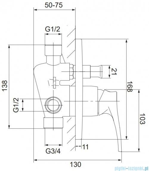 Omnires Art Deco kompletny zestaw podtynkowy miedź antyczna SYSAD28ORB
