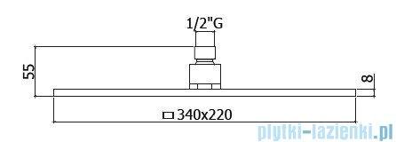 Paffoni  Deszczownica prostokątna 34x22 cm CITY ZSOF091CR