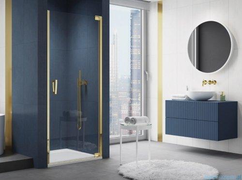 SanSwiss Cadura Gold Line drzwi wahadłowe 90 cm jednoczęściowe prawe z profilem przyściennym CA1CD0901207