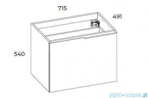Elita Glam szafka podumywalkowa 71x54x49cm biały mat 168380