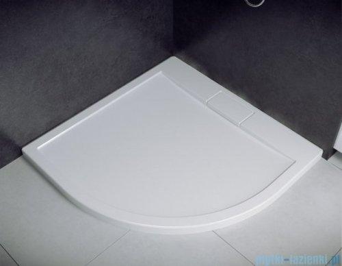 Besco Viva kabina półokrągła z brodzikiem i syfonem 90x90cm przejrzyste VP-90-195-C/BAX-90-NR