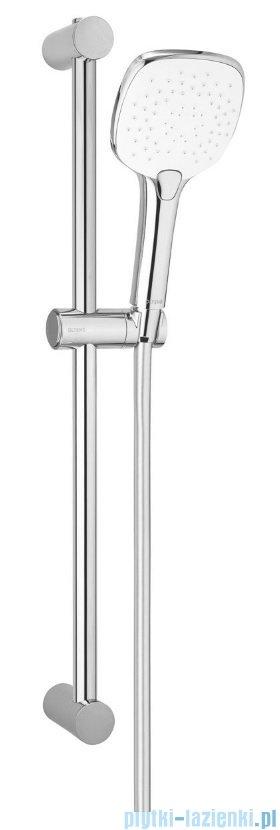 Oltens Driva EasyClick(S) Alling zestaw prysznicowy z mydelniczką chrom/biały 36005110
