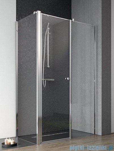 Radaway Eos II KDS kabina prysznicowa 90x90 prawa szkło przejrzyste + brodzik Delos C + syfon
