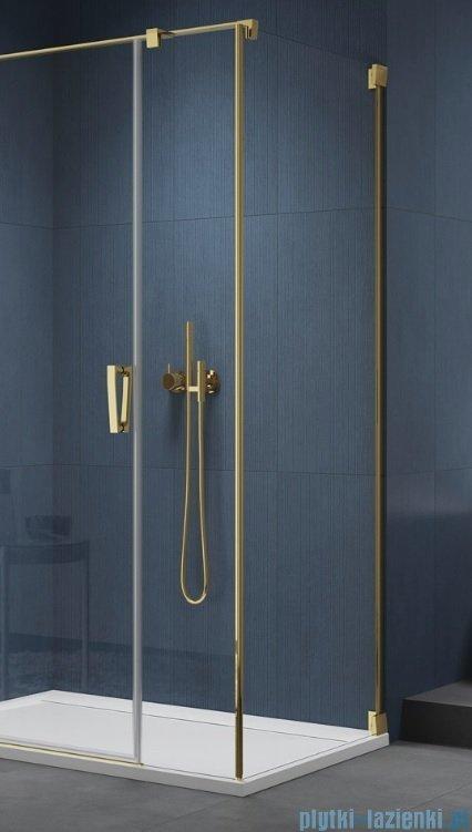 SanSwiss Cadura Gold Line ścianka boczna Cat5 100x200cm profile złote CAT51001207