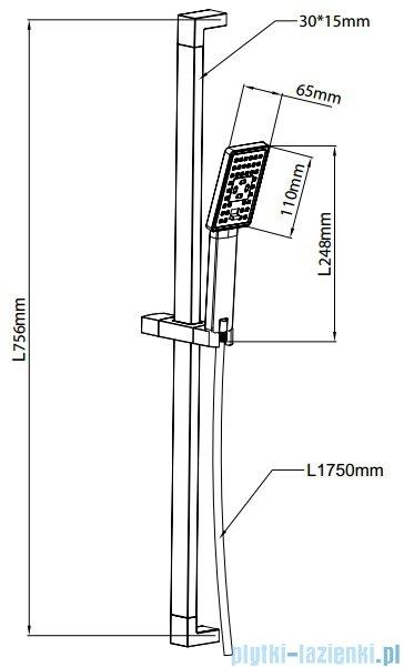 Omnires zestaw prysznicowy suwany 3-funkcyjny JIMJIM-S