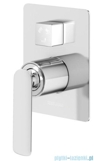 Kohlman Experience podtynkowa bateria wannowo-prysznicowa z trzema wyjściami chrom