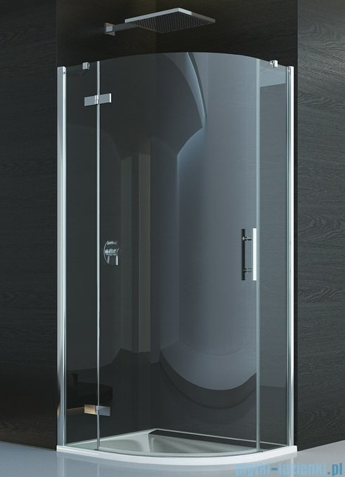 SanSwiss Pur P3P Kabina półokrągła 100cm profil chrom szkło przezroczyste Lewa P3PG551001007