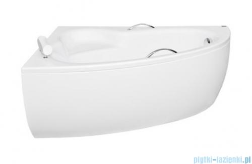 Besco Natalia Premium 150x100cm wanna asymetryczna lewa z uchwytami i zagłówkiem + obudowa + syfon