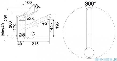 Blanco Tivo bateria wysokociśnieniowa kolor: kawowy/chrom 517608