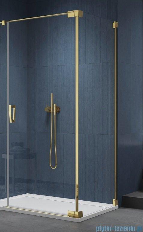 SanSwiss Cadura Gold Line ścianka boczna Cat2 70x200cm profile złote CAT20701207