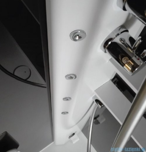 Novellini Glax 2 2.0 kabina z hydromasażem 90x90 lewa total biała G22GF90ST1-1UU