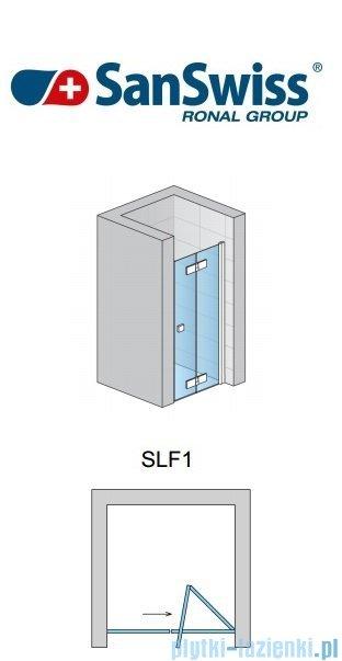 SanSwiss Swing Line F SLF1 Drzwi dwucześciowe 70cm profil połysk Prawe SLF1D07005007