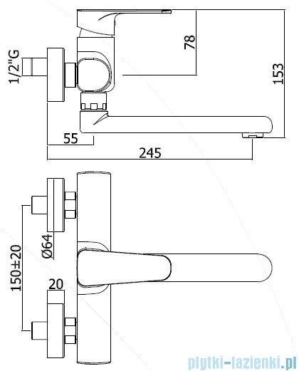 Paffoni  Bateria kuchenna SLY chrom SY161CR