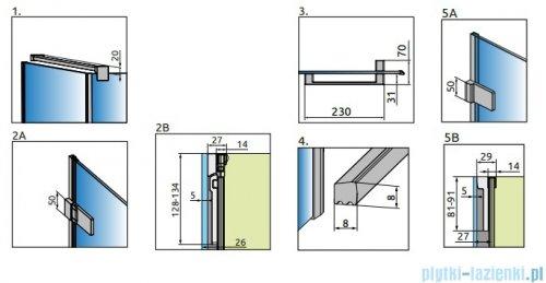 Radaway Arta Kdj I kabina 100x90cm prawa szkło przejrzyste + brodzik Doros D + syfon
