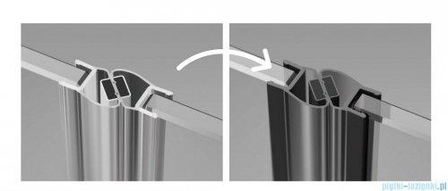 Radaway Nes Black Dws drzwi wnękowe 130cm lewe szkło przejrzyste 10028130-54-01L