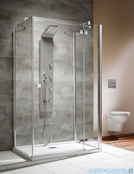 Radaway Kabina prysznicowa Almatea KDJ+S 90x90x90 prawa szkło przejrzyste + Brodzik Delos C + syfon