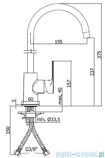 Paffoni  Bateria kuchenna wysoka SLY chrom 181CRCR