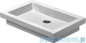 Duravit 2nd floor umywalka mała bez przelewu bez otworu na baterię 580x415 mm 031758 00 00