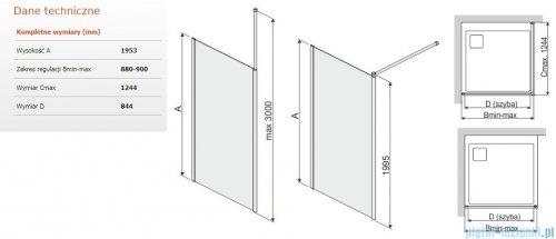 Sanplast Prestige III P/PRIII kabina walk-in 90x195 cm przejrzyste 600-073-1430-38-401