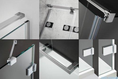 Radaway Euphoria KDJ+S Kabina przyścienna 80x120x80 prawa szkło przejrzyste detale