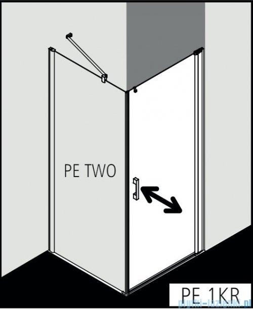 Kermi Pega drzwi wahadłowe 1-skrzydłowe 90 cm prawe przejrzyste PE1KR09020VPK