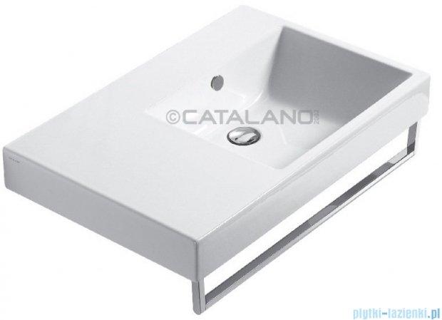 Catalano Zero Domino 75 umywalka prawa 75x50 biała 17DZE00
