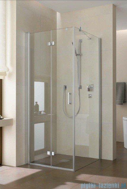 Kermi Diga Drzwi wahadłowo-składane do ściany bocznej, lewe, szkło przezroczyste, profile białe 90x200 DI2SL090202AK