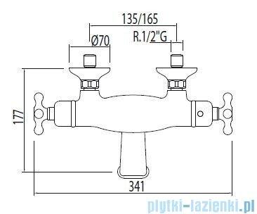 Tres Monoclasic 1900 Bateria termostatyczna wannowa kolor chrom 032.174.09