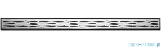 Tece Ruszt prosty Organic ze stali nierdzewnej Tecedrainline 90 cm stal szczotkowana 6.009.61