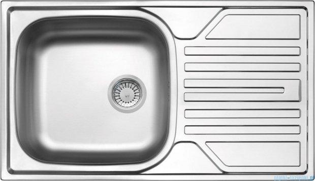 Deante Legato zlewozmywak 1-komorowy z ociekaczem 76x43,5 cm z odpływem 3,5 cale dekor ZEL 3113