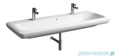 Koło Life! umywalka 130cm z dwoma otworami na baterie biała M21530