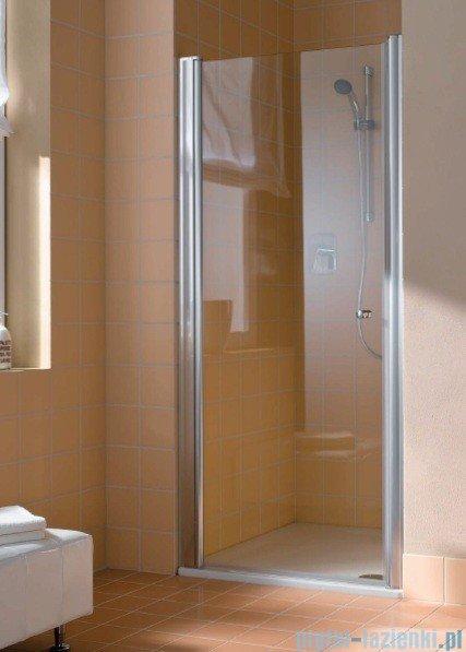 Kermi Atea Drzwi wahadłowe jednoskrzydłowe lewe, szkło przezroczyste, profile srebrne 75cm AT1WL07518VAK