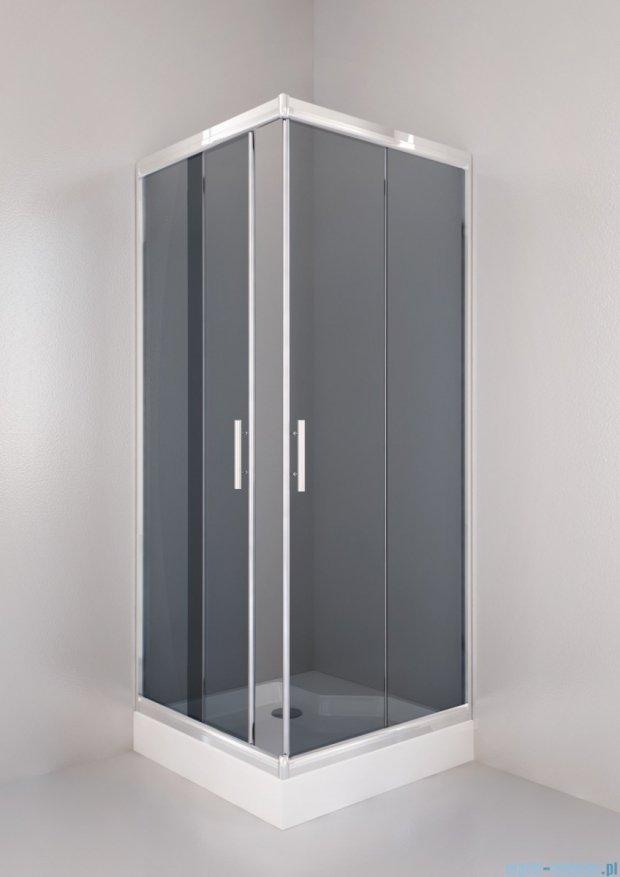 Sea Horse Sigma kabina natryskowa narożna kwadratowa, 90x90, szkło: grafitowe,   BK002/3/QG