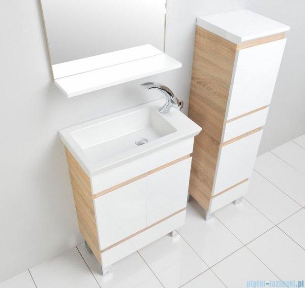 Antado Gabi szafka z umywalką 68x40cm dąb Sonoma+biały GBY-140/70-3025/WS+UCS-IS-70