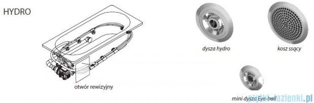 Riho Delta wanna asymetryczna lewa 150x80 z hydromasażem TOP Hydro 6+4+2 BB81T2