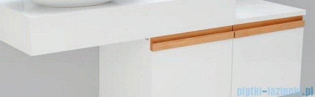 Antado Combi szafka lewa z blatem lewym i umywalką Conti biały/jasne drewno ALT-141/45-L-WS/dn+ALT-B/4-1000x450x150-WS+UCT-TP-37x59
