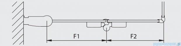 Kermi Diga Wejście narożne,połowa kabiny, lewa, szkło przezroczyste, profile białe 130x200cm DI2CL130202AK