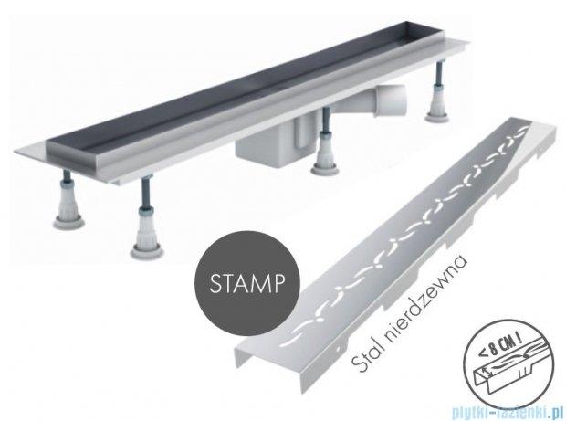 Schedpol odpływ liniowy z maskownicą Stamp 90x8x9,5cm OLSP90/ST