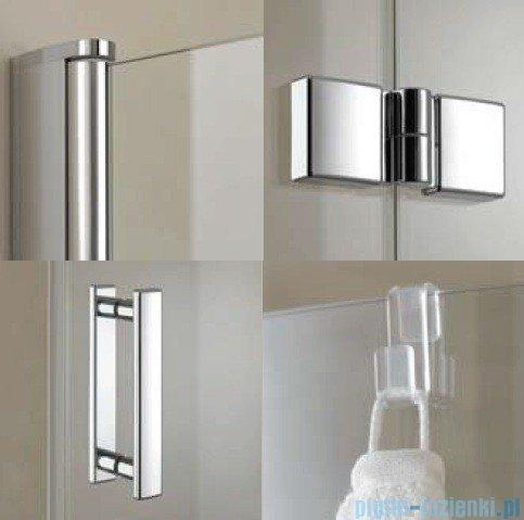 Kermi Diga Drzwi wahadłowo-składane, lewe, szkło przezroczyste, profile srebrne 100x200 DI2DL10020VAK