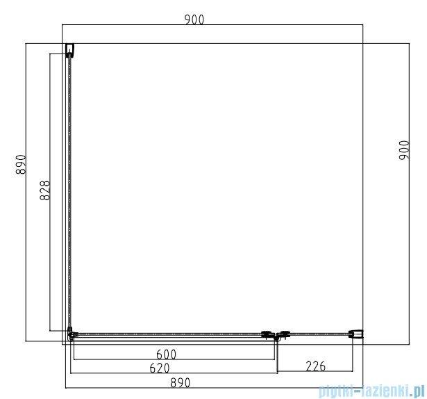 Omnires Manhattan kabina kwadratowa 90x90x185cm szkło przejrzyste ADC90X