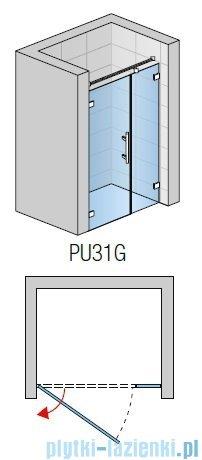 SanSwiss PUR PU31 Drzwi prawe wymiary specjalne do 200cm cieniowane czarne PU31DSM41055
